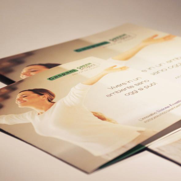 brochure e cartellina